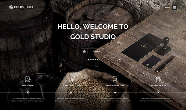 Gold | Creative HTML5 Template
