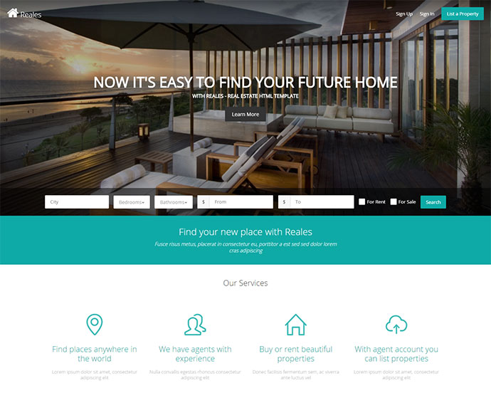 Real Estate Web Application Template