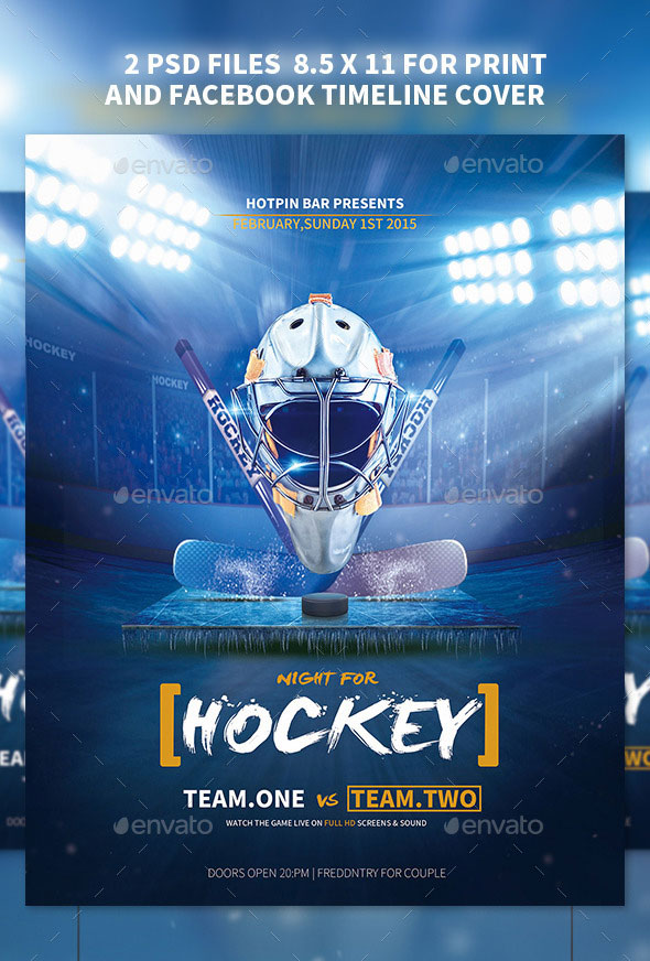 Hockey Match Flyer Template