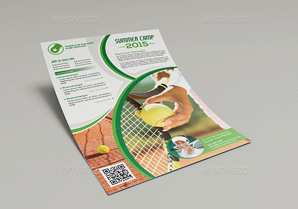 Tennis Club and Camp - Flyer Template