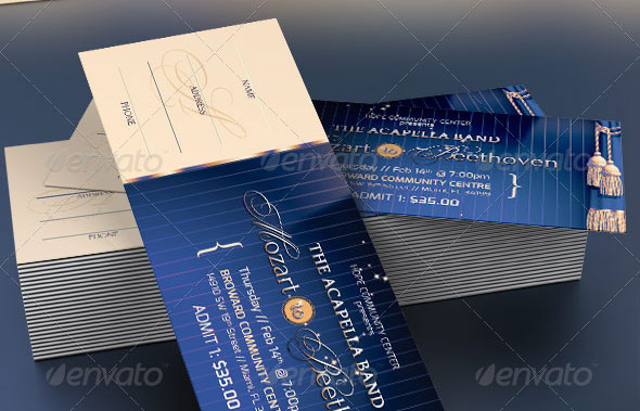 Mozart to Beethoven Event Ticket Template