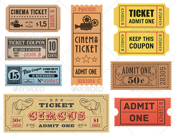 Vector Coupons and Tickets Collection 1