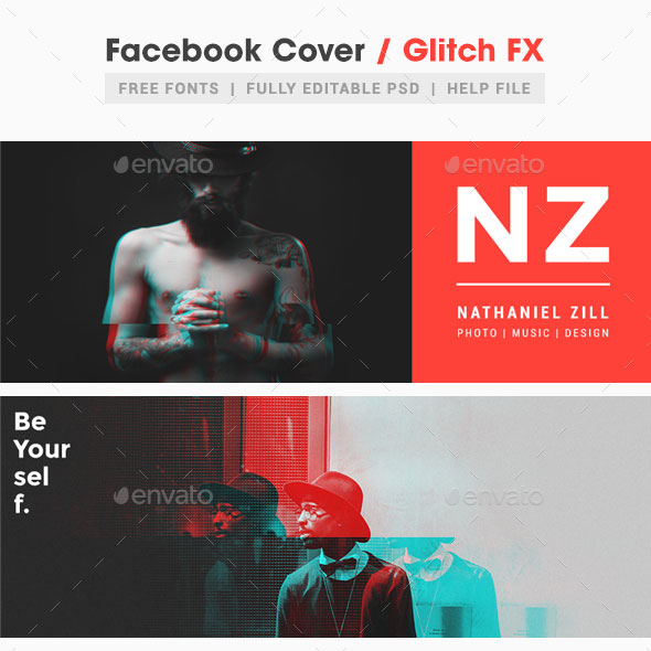 Glitch Facebook Cover
