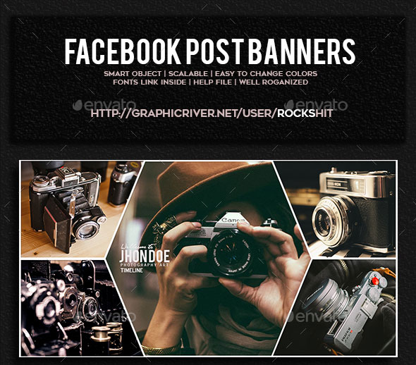 Facebook Post Banners Bundle