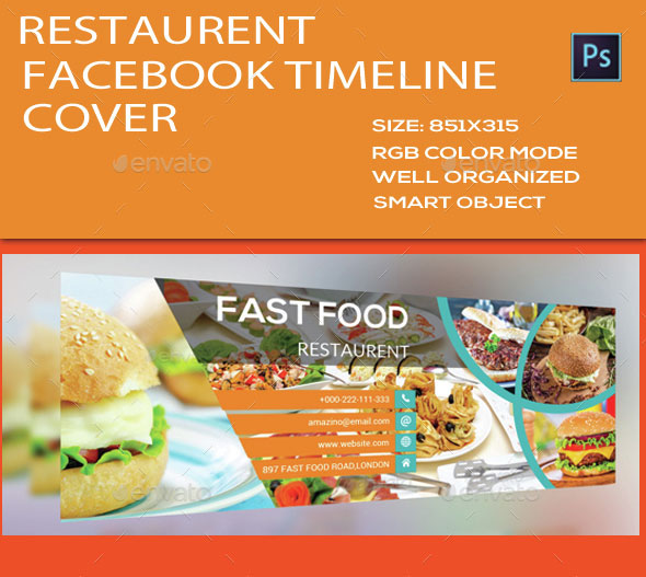 Restaurant Facebook Timeline Cover