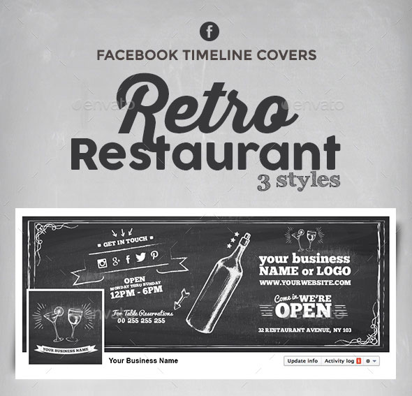 Retro Restaurant - Facebook Timeline Covers and Box Profile