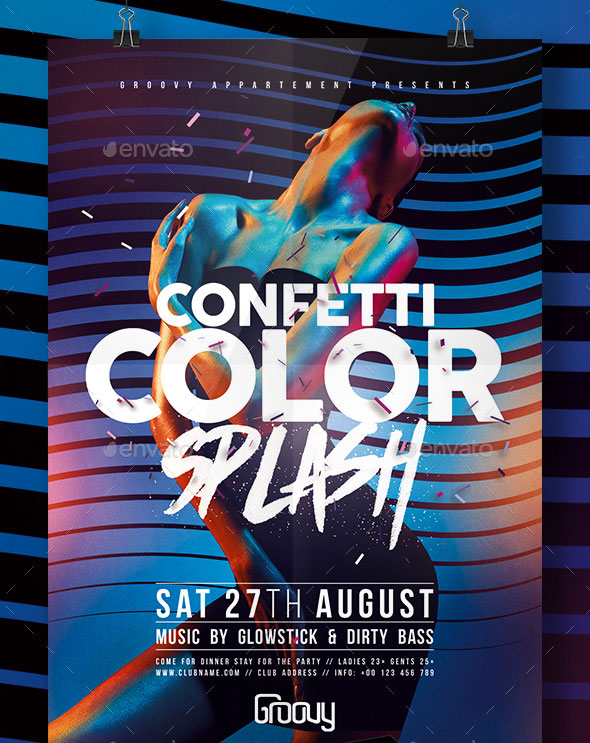 Confetti Color Splash Flyer