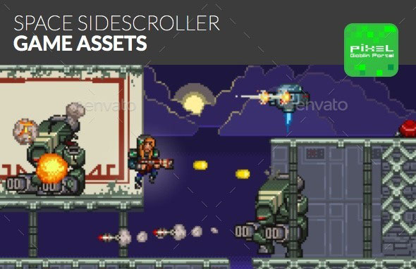 Space Sidescroller Game Assets