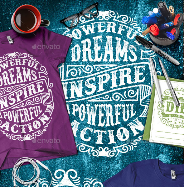 3 Motivational Typography T-shirt Vol.2