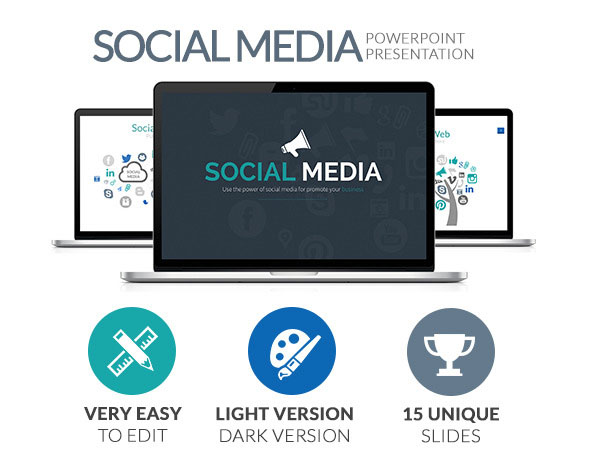 Social Media Powerpoint Presentation Template