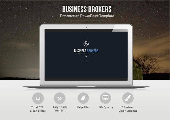 Business Brokers Powerpoint Template