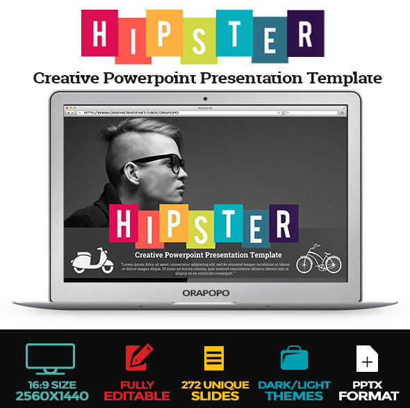 Hipster Creative Powerpoint Presentation Template