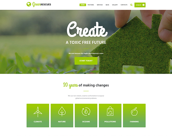 Green Rescues - Environment Protection Theme