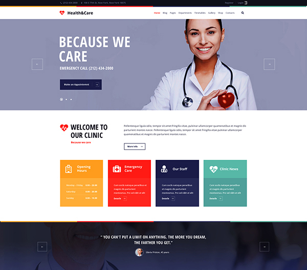 Health & Care - Medical WordPress Theme