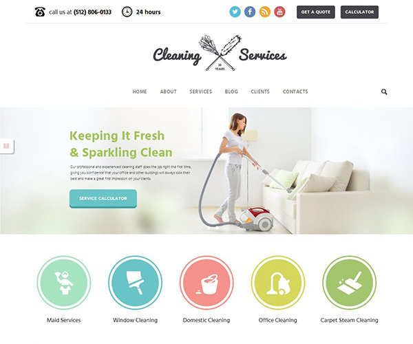 Cleaning Company - Maid & Janitorial Service Theme