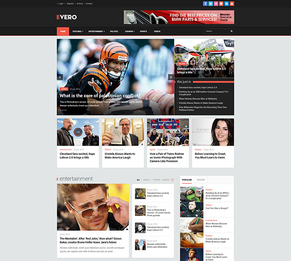Vero - Responsive Blog & Magazine WordPress Theme