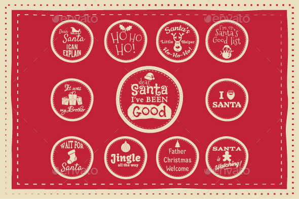 25 Cool Christmas Label and Badge Designs | Logo | iDesignow