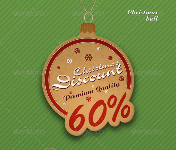 Retro Christmas badge