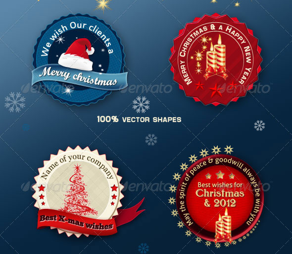 Christmas Badges & Banners