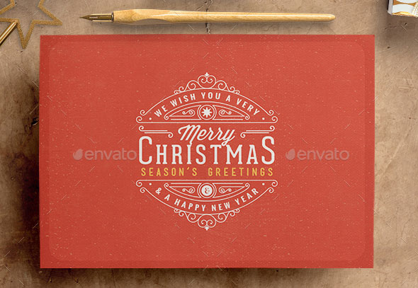 Retro / Vintage Christmas Card Pack