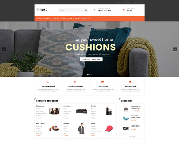 iMart Multipurpose eCommerce WordPress Theme