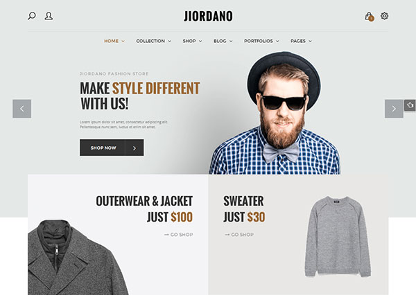 Jiordano - Responsive Fashion WooCommerce WordPress Theme