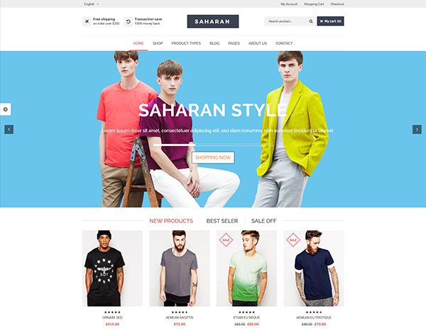 SAHARAN - Responsive WordPress Theme