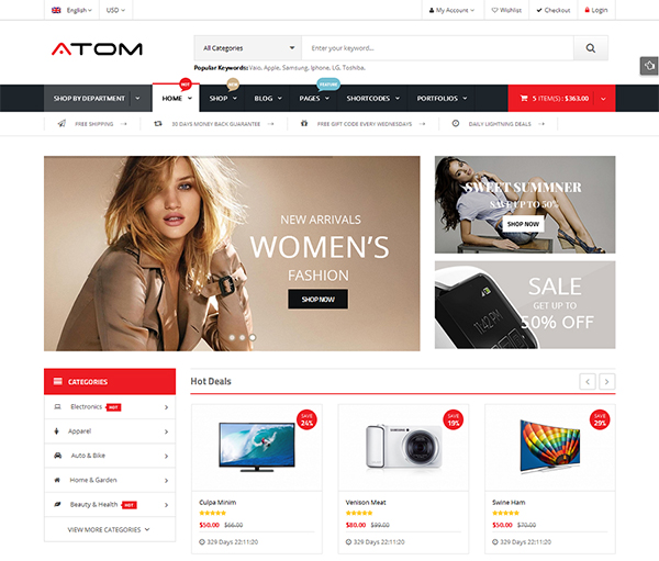 Atom - Responsive WooCommerce WordPress Theme