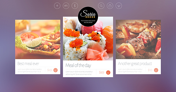 Saria Shop - Flat Responsive WordPress Theme