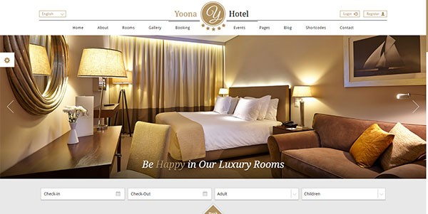 Yoona - Hotel & Resort WordPress Template