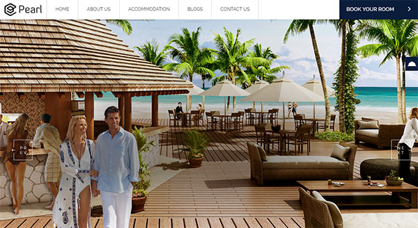 Restaurant and Hotel WordPress theme
