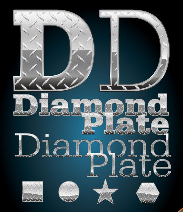 Diamond Plate Illustrator Graphic Style & Pattern