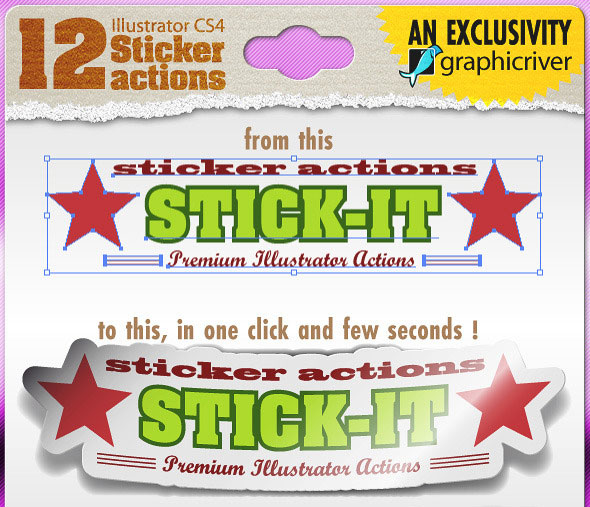 Stick-it ! Illustrator Sticker Actions