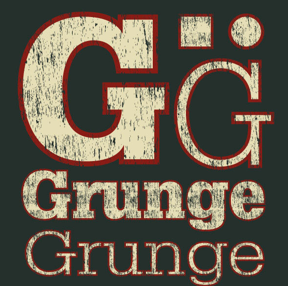 Grunge Distressed Illustrator Graphic Style