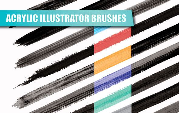 Acrylic Illustrator Brushes
