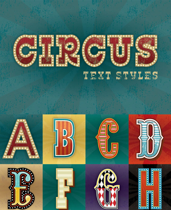 Circus Text Styles
