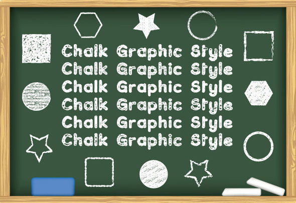 Chalk Board Graphic Style Illustrator