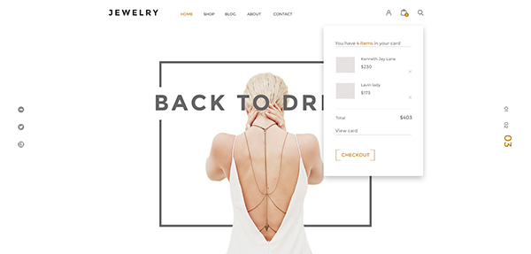 Jewelry- Ecommerce PSD Template
