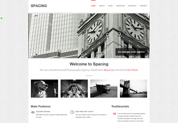 Spacing: Responsive, Minimal & Bold WP Theme