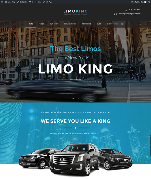 Limo King - Limousine / Transport / Car Hire Theme
