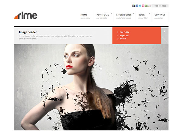 Rime - Responsive Portfolio for WordPress