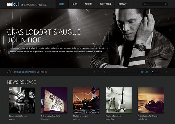 Meloul - Music and Band HTML5 Template