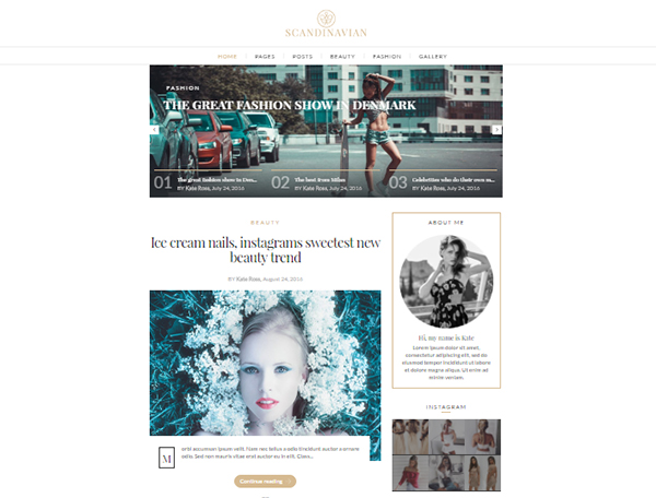 Scandinavian - Clean Fashion & Lifestyle Blog Theme