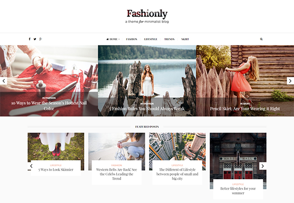 Fashionly - Fashion Blog Theme