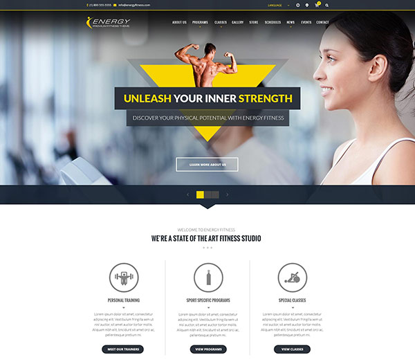 ENERGY - Responsive Fitness HTML5 Template