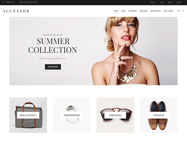 Accessories Shop - Online Store, WooCommece & Shopping WordPress Theme