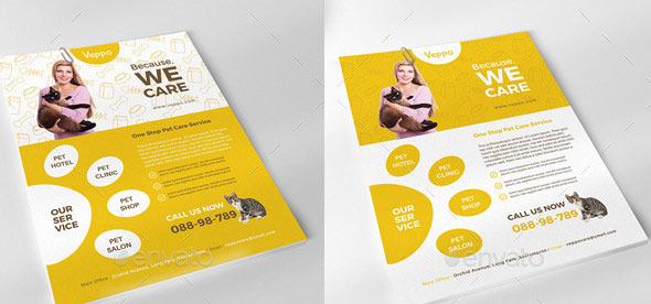 Veppo - Pet Care Flyer / Ads