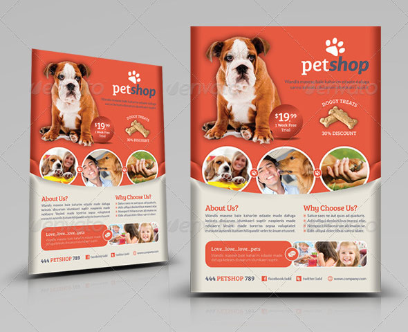 Pet Shop Flyer Template