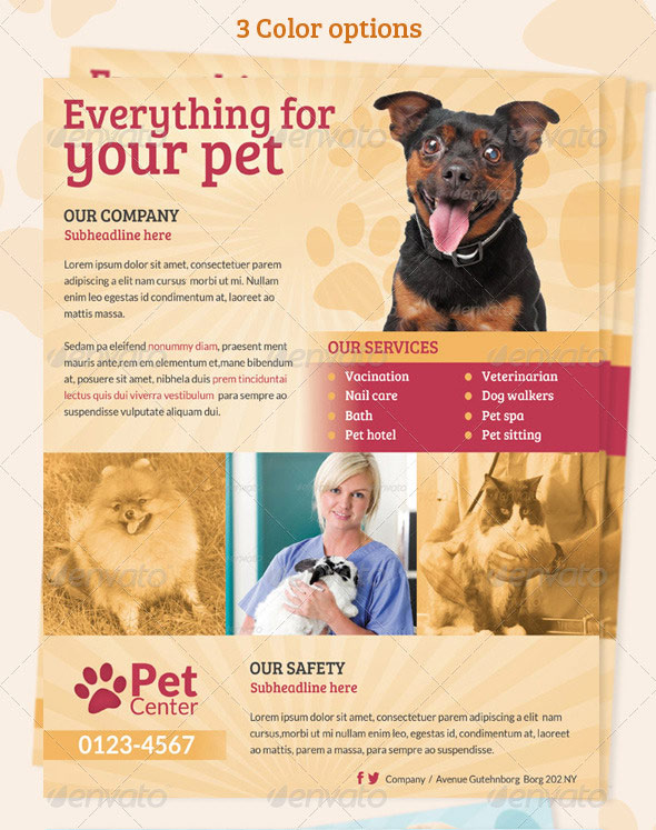 Pet Services Flyer/ Print ad