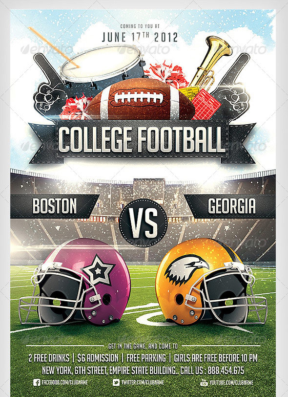 College Football Flyer Template